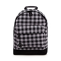 Mi-Pac - Grey gingham 'Premium' backpack