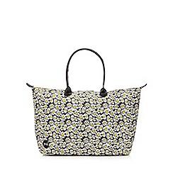 Mi-Pac - Black daisy print weekender bag