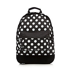 Mi-Pac - Black polka dot mini backpack