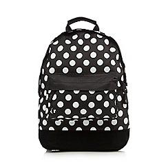 Mi-Pac - Black polka dot mini backpack