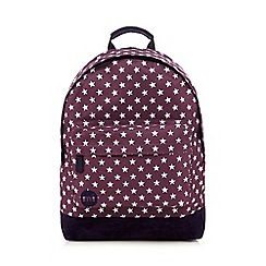 Mi-Pac - Dark purple all-over star print 'Classic' backpack