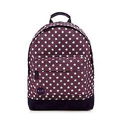 Mi-Pac - Dark purple all-over star print 'Classic' backpack