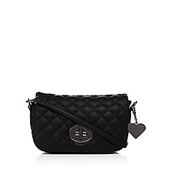 Marc B - Black 'Liberty' quilted cross body bag