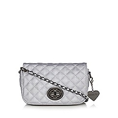 Marc B - Silver 'Liberty' quilted cross body bag