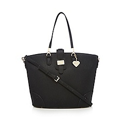 Marc B - Black logo plate shopper bag
