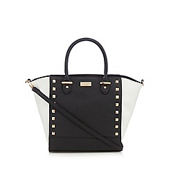 Lipsy - Black studded winged tote bag