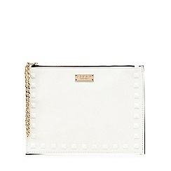 Lipsy - White studded clutch bag