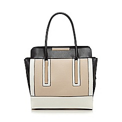 Lipsy - Black colour block gold plated winged tote bag