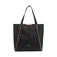 Lipsy - Black double zip shopper bag