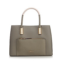 Lipsy - Khaki textured tote bag