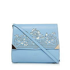 LYDC - Light blue floral cut out cross body bag