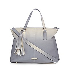 LYDC - Grey ombre tasselled shopper bag