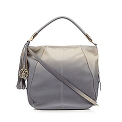 LYDC - Grey ombre tasselled shoulder bag