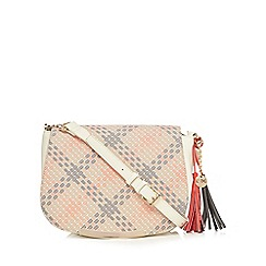 LYDC - Cream cross checked cross body bag