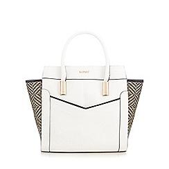 Lipsy - White woven tote bag