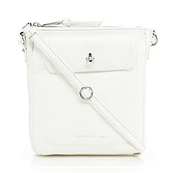 Fiorelli - White 'Weber' leatherette cross body bag