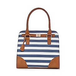 Kangol - Navy striped tote bag