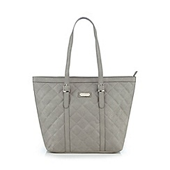 Kangol - Grey quilted tote bag