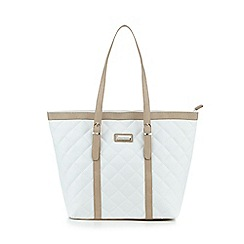 Kangol - White quilted tote bag