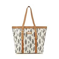 Kangol - Cream leaf print tote bag