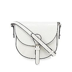 Kangol - White croc-effect saddle bag