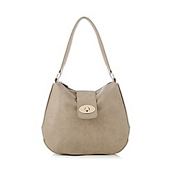 Kangol - Grey flap lock shoulder bag