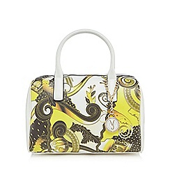 Versace Jeans - Yellow printed bowler bag