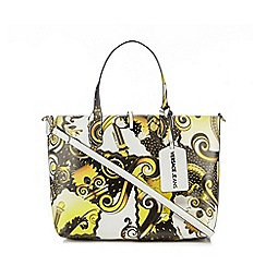 Versace Jeans - Yellow printed tote bag