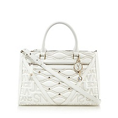 Versace Jeans - White logo print studded grab bag