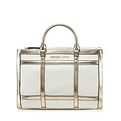 Versace Jeans - White grid print grab bag