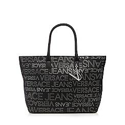 Versace Jeans - Black logo print tote bag