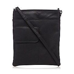 Clarks - Black leather 'Timely Helen' cross body bag