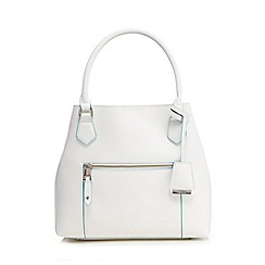 Clarks - White 'Mesmerise May' shoulder bag
