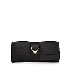 Valentino - Black pleated clutch bag