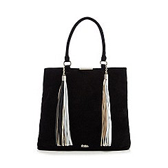 Faith - Black suede tote bag