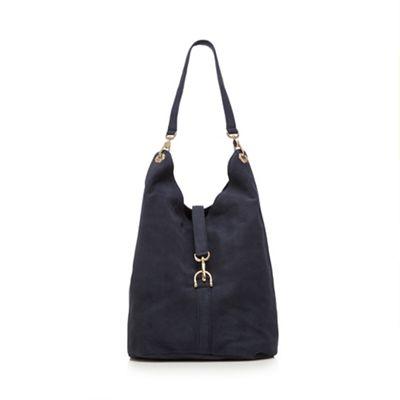 Faith Navy suede hobo bag