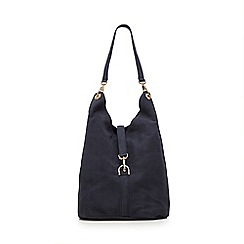Faith - Navy suede hobo bag