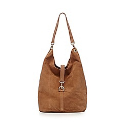 Faith - Tan low slung hobo bag