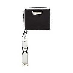 Floozie by Frost French - Black and white butterfly applique clutch bag