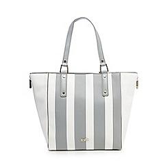 Faith - Grey striped tote bag