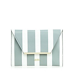 Faith - Grey striped envelope clutch bag