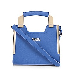 Faith - Blue metal handle small grab bag