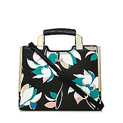 Faith - Black floral print tote bag