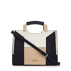 Faith - Navy colour block tote bag