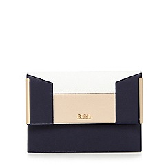 Faith - Navy colour block clutch bag