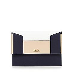 Faith - Navy colour block clutch bag