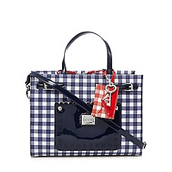 Floozie by Frost French - Navy gingham print bowler bag