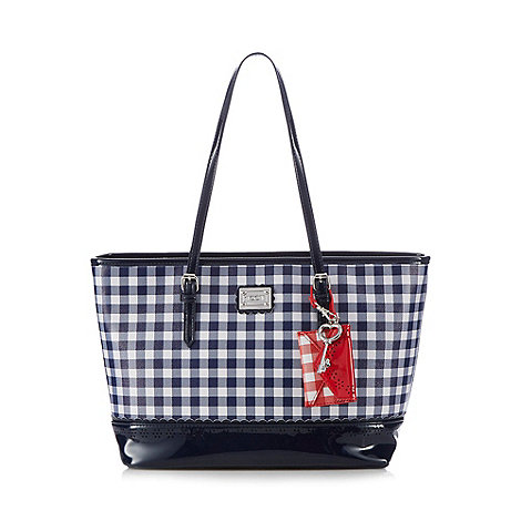 Floozie by Frost French - Navy gingham print tote bag