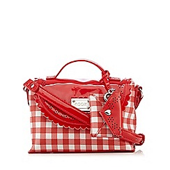 Floozie by Frost French - Red checked print small cross body bag