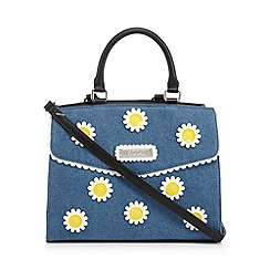 Floozie by Frost French - Blue denim daisy applique grab bag
